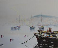 Vigo entre la niebla 76x56