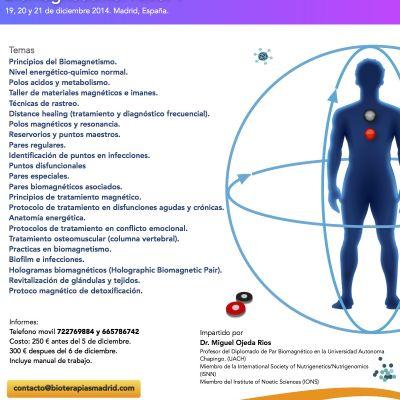 Curso MULTIMEDIA de Biomagnetismo Nivel 1 (Madrid)
