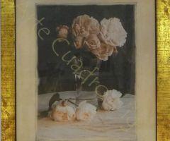 Cuadro florero rosas