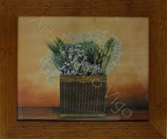 Cuadro Cesto con flores 2