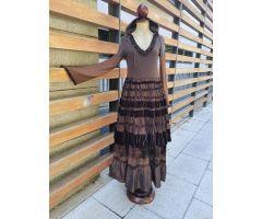 Vestido marrón tipo medieval