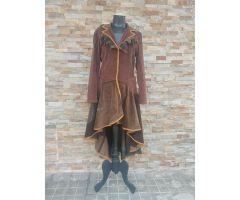 Abrigo de pana marrón