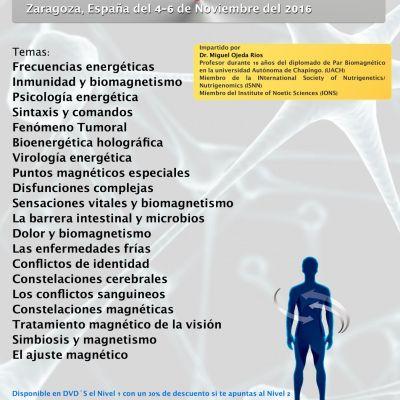 Curso MULTIMEDIA «Biomagnetismo, nivel 2» (Zaragoza)