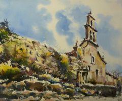 Paisaje con Iglesia - 66x50