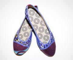 Bailarinas Africanas Batik Azules