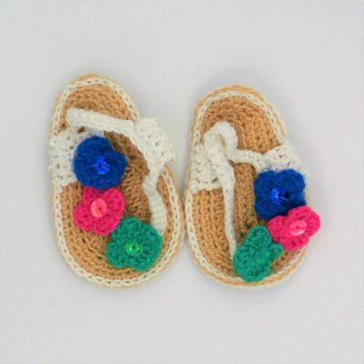 Sandalias de crochett