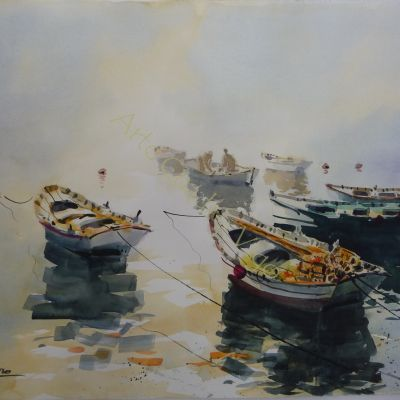 Barcas en la Niebla I