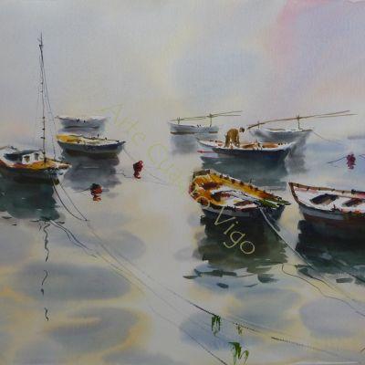 Barcas en la Niebla II