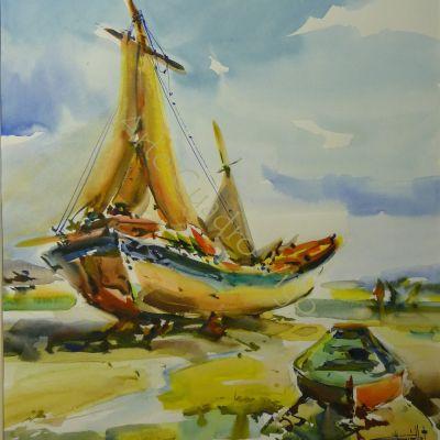 Barcos en Tierra - 47x54