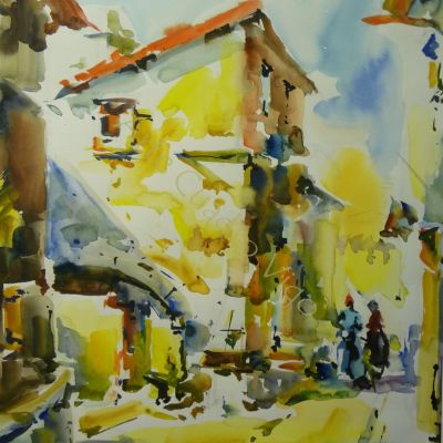 Calle con Mujeres - 47x54