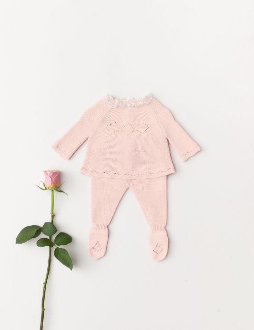 Conjunto Bebé Rombos Rosa Bebé