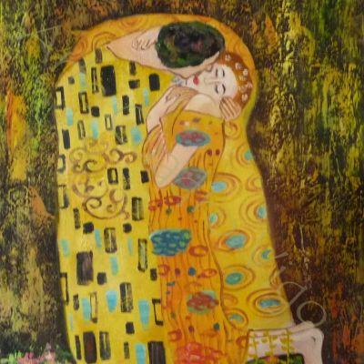 Copia Beso Klimt 60x50