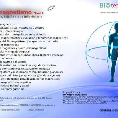 Curso MULTIMEDIA «Biomagnetismo, nivel 1» (Zaragoza)