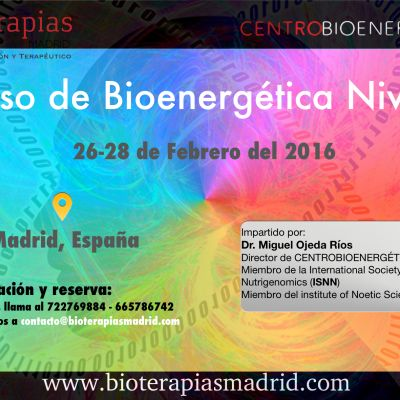 Curso MULTIMEDIA de «Bioenergética Nivel 2» – Madrid