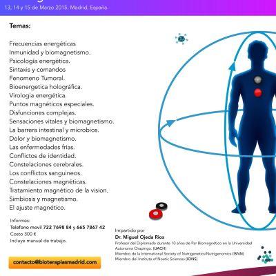 Curso MULTIMEDIA de Biomagnetismo Nivel 2 (Madrid)