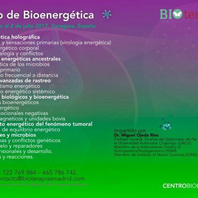 Curso de Bioenergética (Zaragoza)