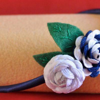 Diadema piquillo (2 flores)