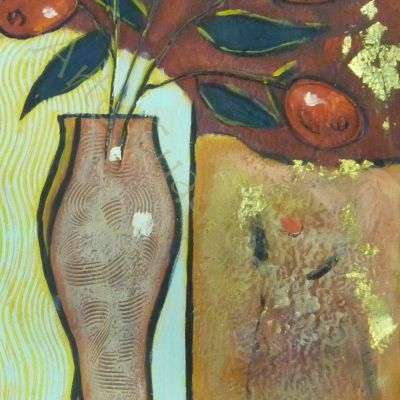 Jarrón con Flores 2 30x60