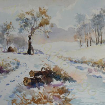Paisaje Invernal 58x39