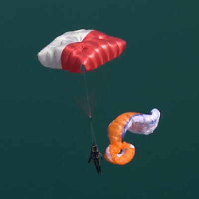 Paracaídas cuadrado Fluid Light L (<125 KG.)