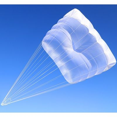 Revisión y plegado de paracaídas de emergencia cuadrado