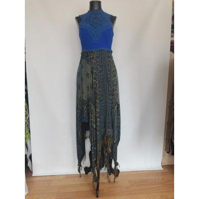 Vestido azul pasminas
