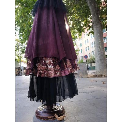 Vestido con faldas