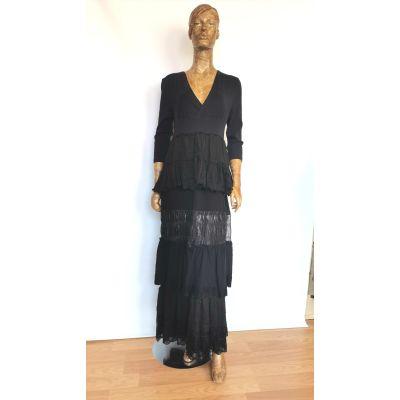 Vestido largo negro faldas