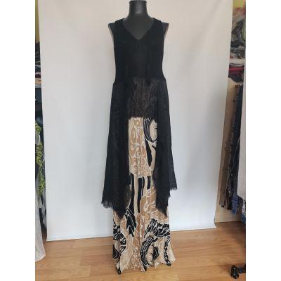 Vestido negro y estampad jipie
