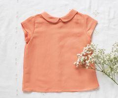 Camisa cuello bebé Mango