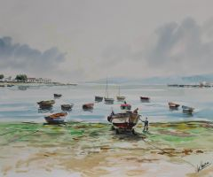 Barcas en marea baja