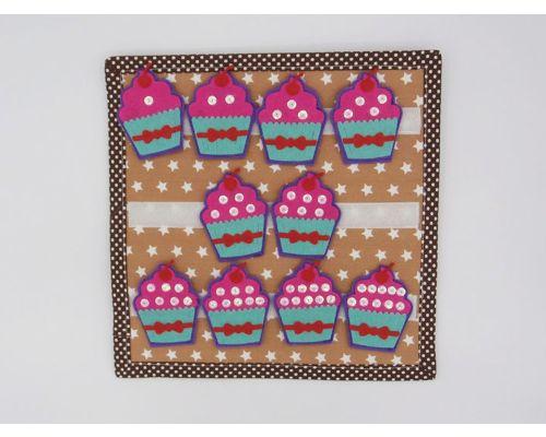 Cupcakes para contar sumar y restar