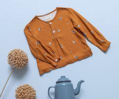 Camisa Mao Bouquet Caramelo