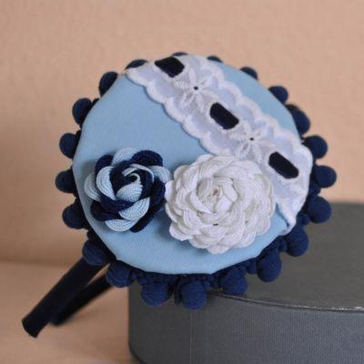 diadema tocado flor piquillo