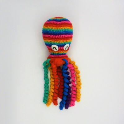 Pulpo rainbow para bebés