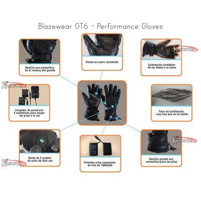 Guantes calefactables GT6 con bateria