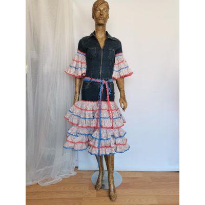 vestido vaquero sevillana