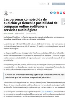 Lanzamiento Guía del Audífono en Globedia