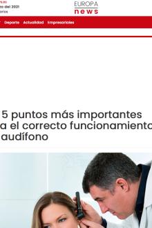 5 Puntos funcionamiento audífono en Europa News