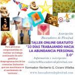 """Curso a Distancia """"33 días Trabajando hacia la Abundancia Personal"""" Tercera Edición"""