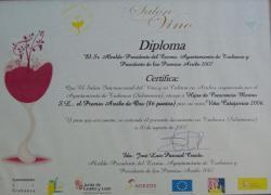 Premio Arribe de Oro 2007 por Viña Catajarros 2006