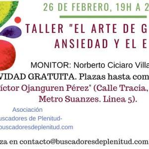 Taller EL ARTE DE GESTIONAR LA ANSIEDAD Y EL ESTRÉS