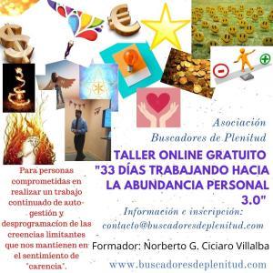 Taller Online 33 días Trabajando hacia la Abundancia Personal Edición 3.0