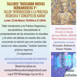 Taller Introducción a la Práctica Regresiva y concepto de karma