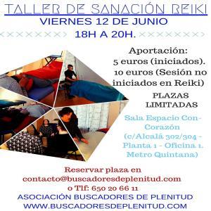 Viernes 12, Taller de Sanación Reiki