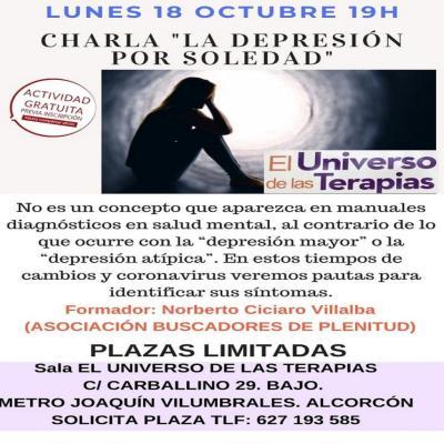 Depresión por Soledad, Meditación, Reconocimiento y Taller Presencial