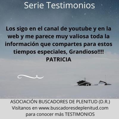 NUESTROS CLIENTES DAN TESTIMONIO - Patricia