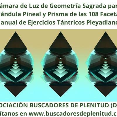 Cámara de Luz de Geometría Sagrada Pineal y Prisma 108 Facetas