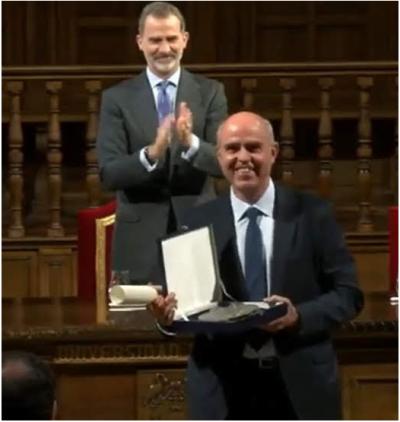 Entrega del premio Derechos Humanos Rey de España a ACOES HONDURAS