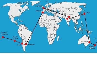 Itinerario:Vuelta al Mundo en 150 días